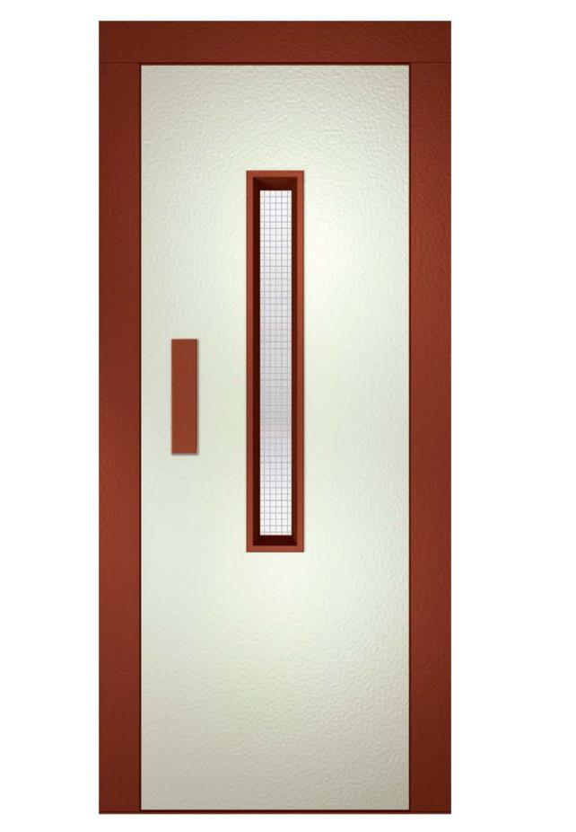 007 - Elevator Door  sc 1 st  Global Partner Elevator & Elevator Door Frame RAL 8004 Panel RAL 9002 Painted