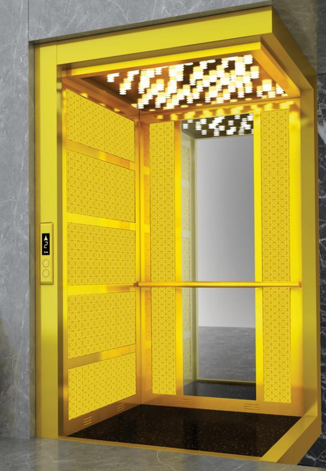 Gold Elevator Cabin Gold Lift Cabin